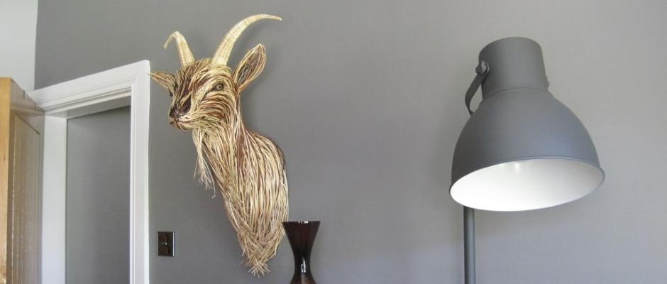 Willow Goat Sculpture