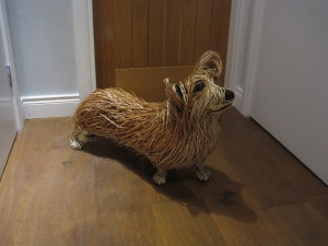 Wicker Corgi Sculpture