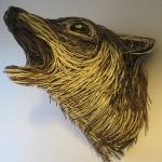 Howling Wolf Sculpture