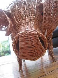 Willow Pig Sculpture