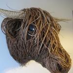 Willow Highland Cow Sculpture